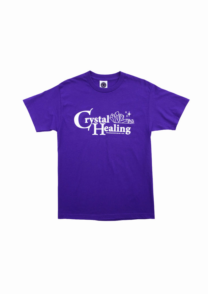 CRYSTAL HEALING SS TEE - PURPLE