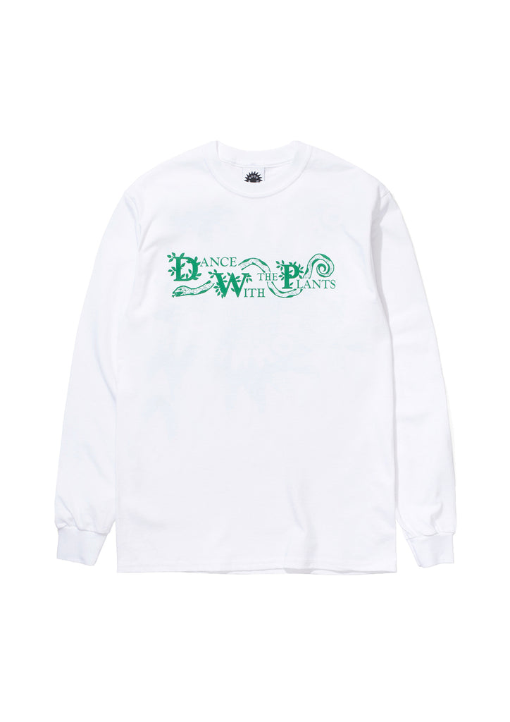 DANCE WITH THE PLANTS LS TEE - WHITE