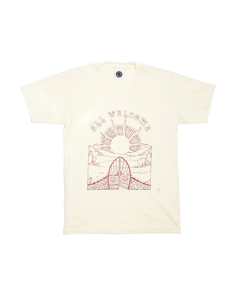All Welcome SS Tee - Natural