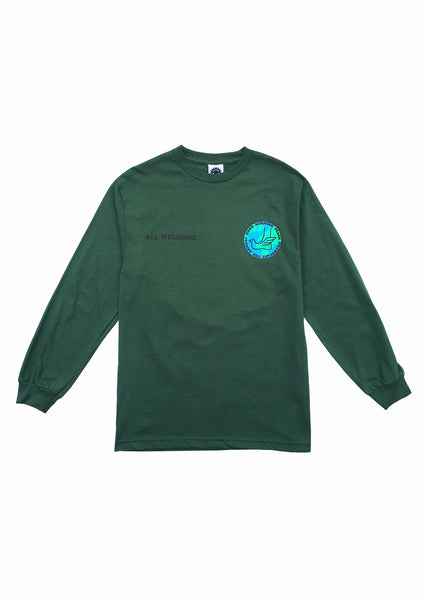 PEACE PILGRIMAGE LS TEE - DARK GREEN