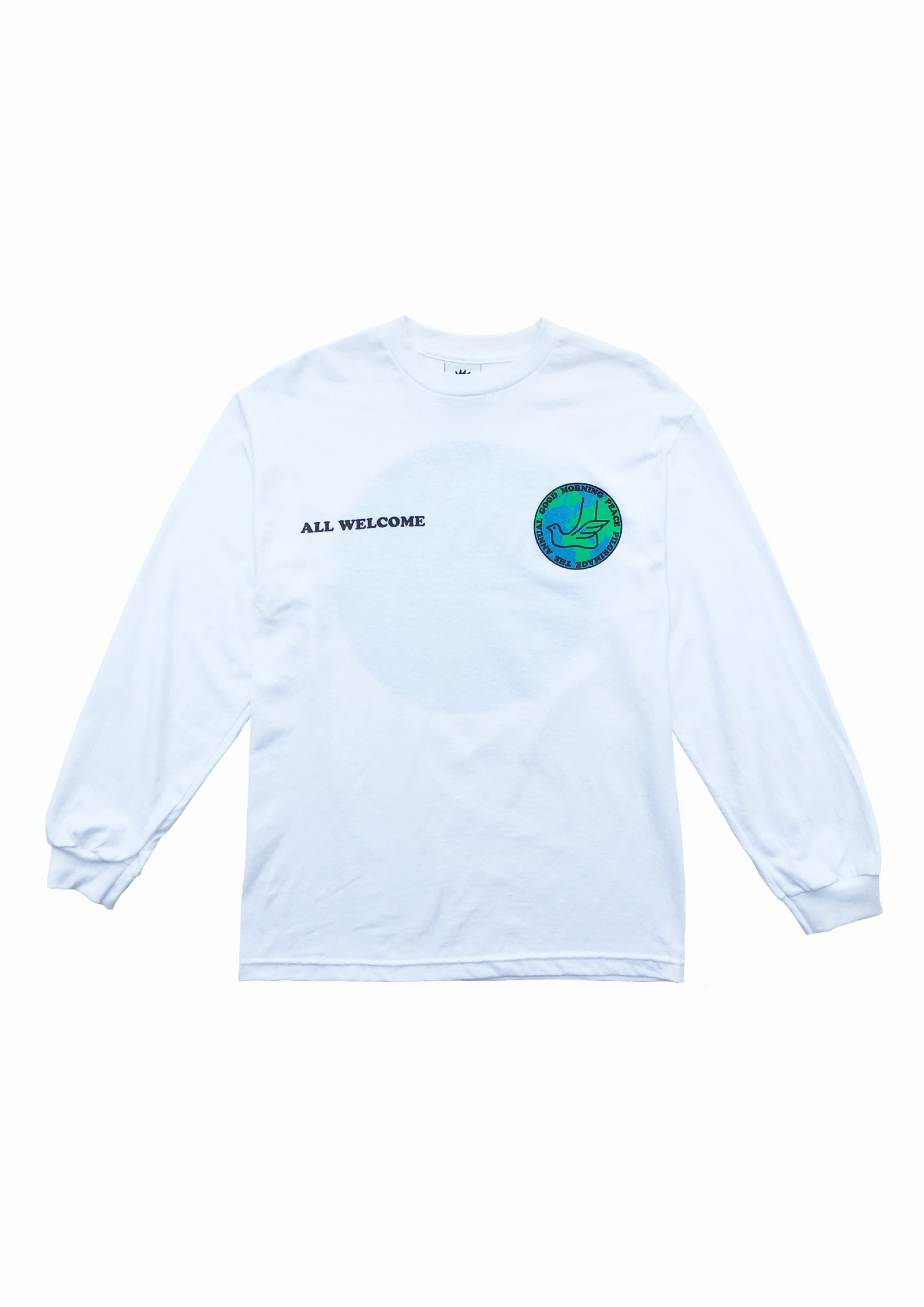PEACE PILGRIMAGE LS TEE - WHITE