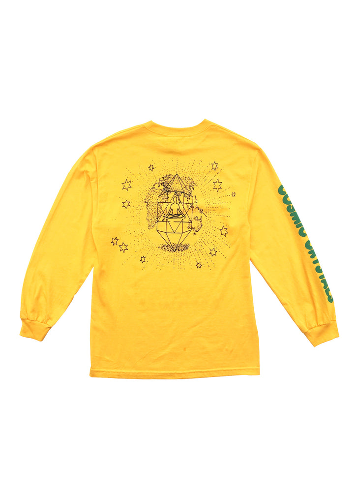 COSMIC CRYSTALS LS TEE - GOLD