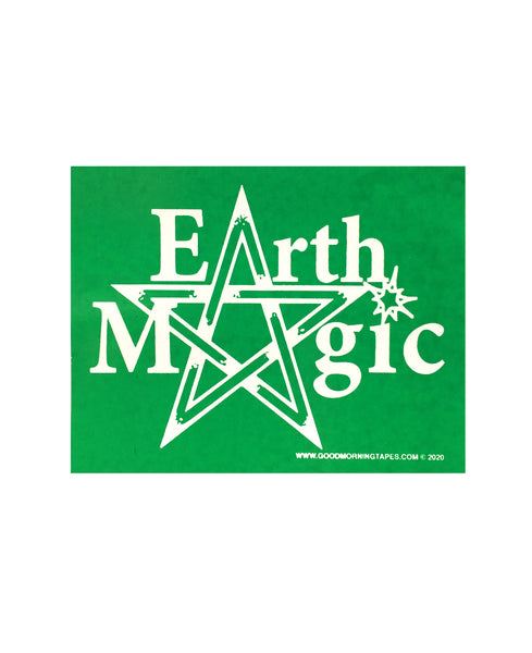 EARTH MAGIC BUMPER STICKER - GREEN