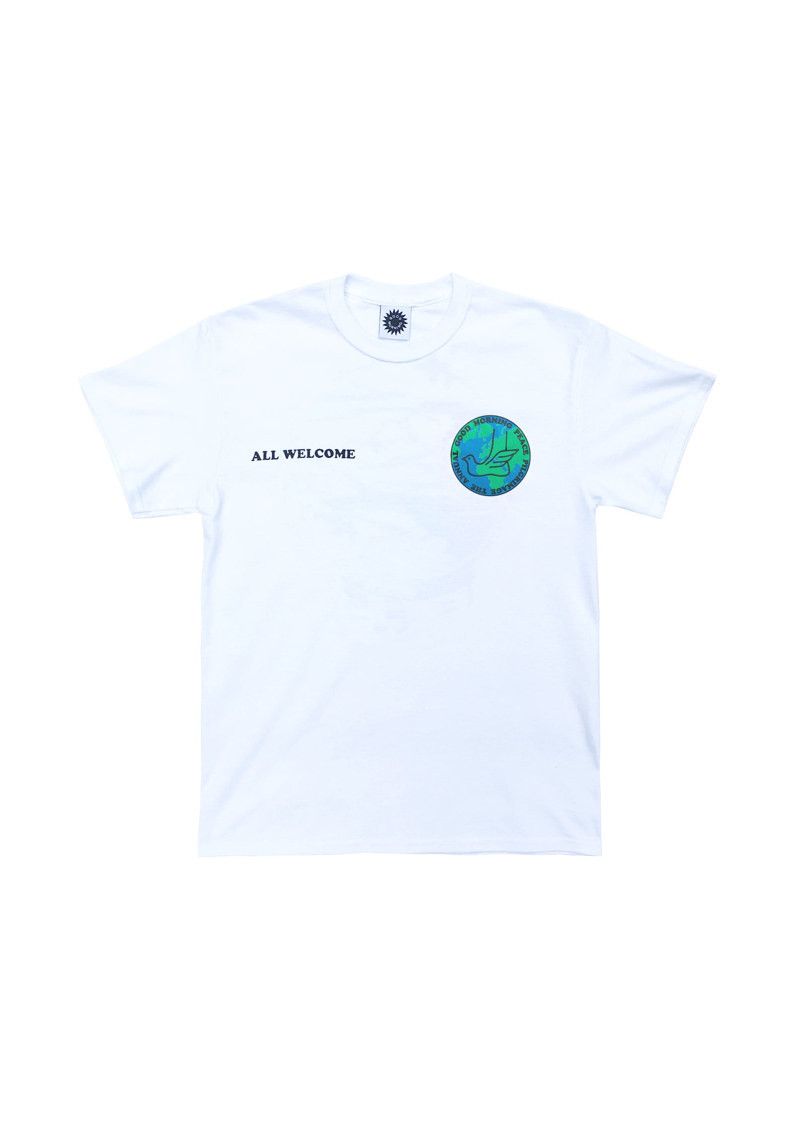 PEACE PILGRIMAGE SS TEE - WHITE