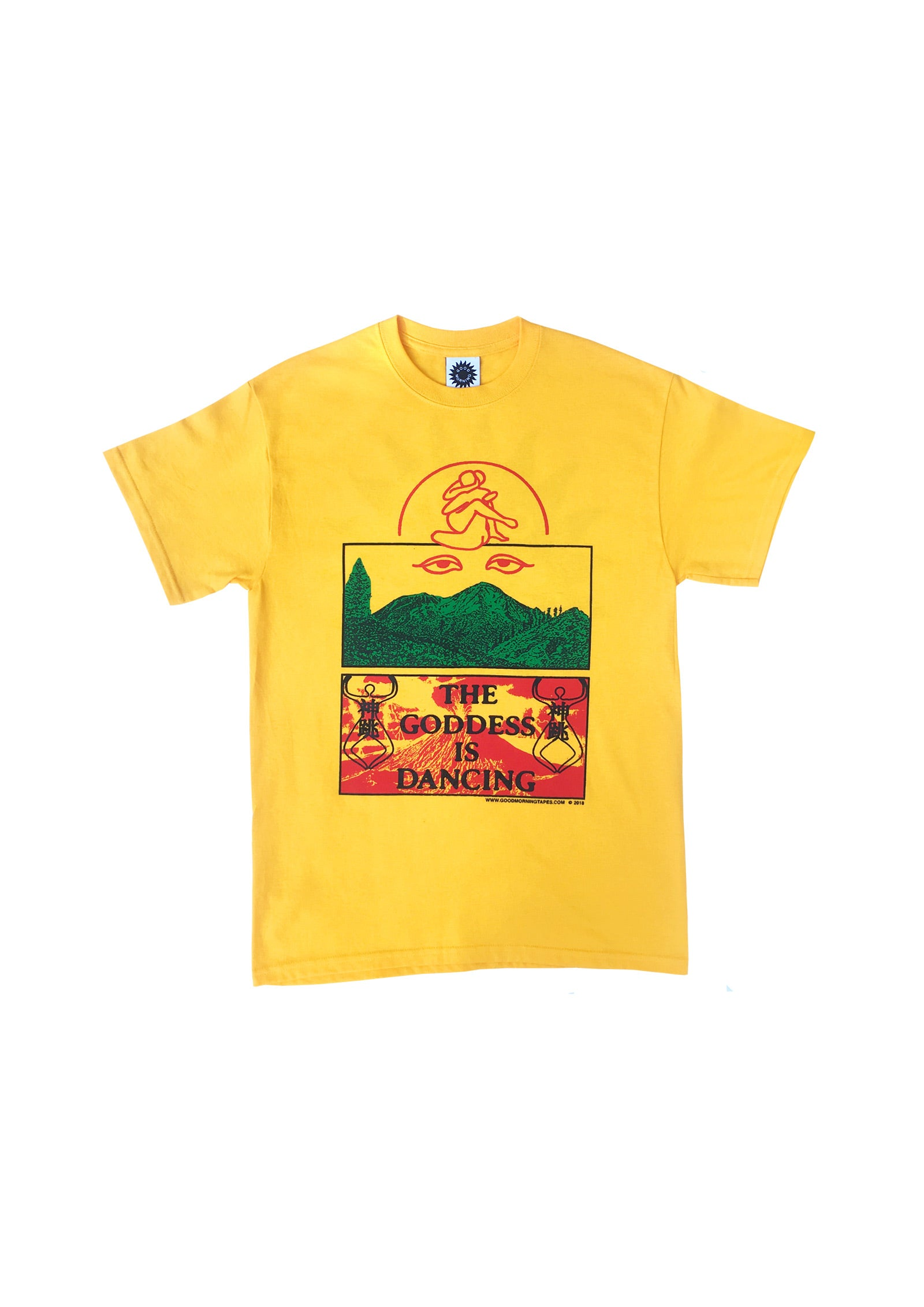 THE GODDESS IS DANCING SS TEE - GOLD
