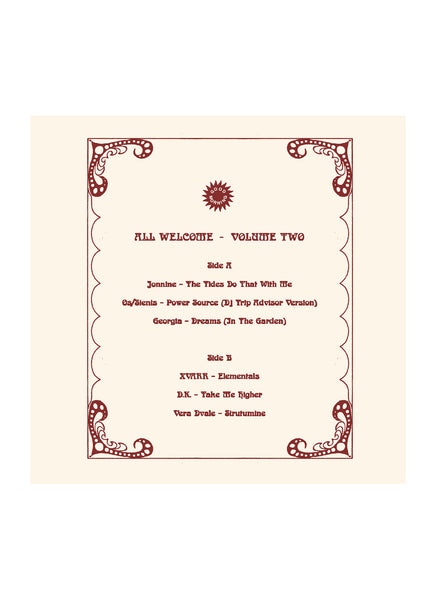 GMV07 VARIOUS ARTISTS - ALL WELCOME VOLUME TWO LP