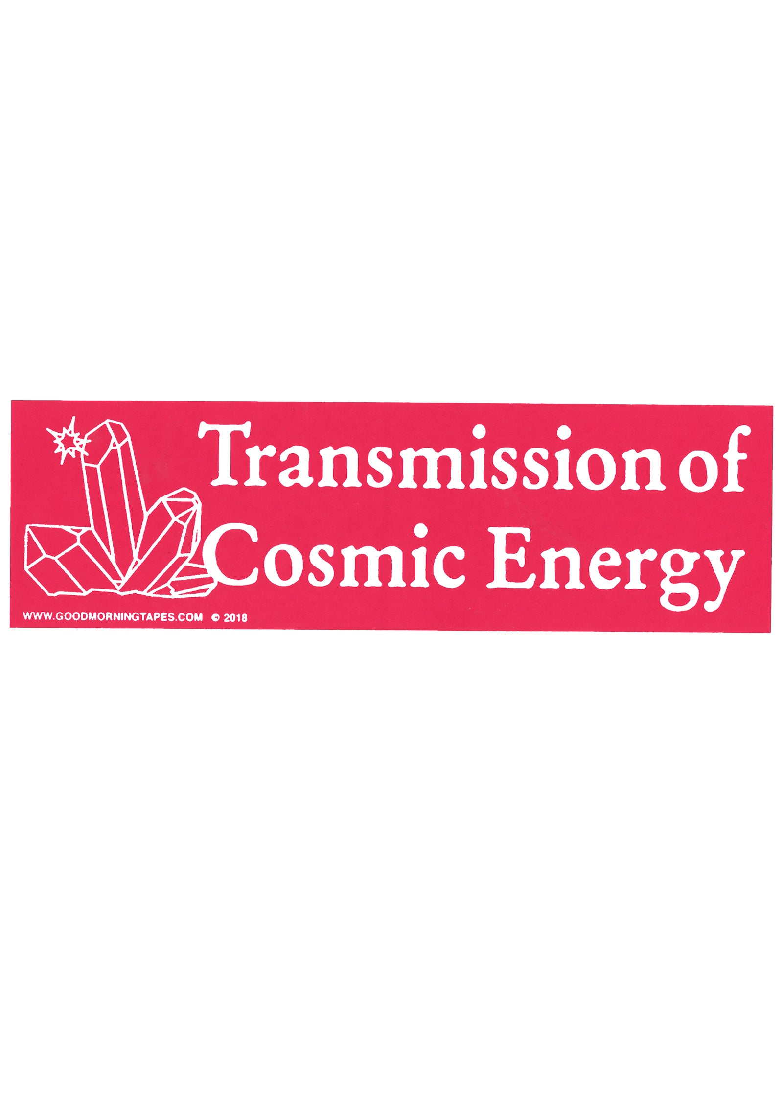 TRANSMISSION BUMPER STICKER - PINK