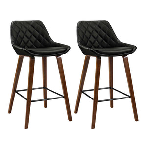 2x Bentwood Leg Bar Stool Set Kitchen High Chair Seating Home Office Cafe - Afterpay - Zip Pay - Free Shipping - Dodosales -