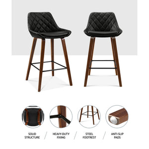 2x Bentwood Leg Bar Stool Set Kitchen High Chair Seating Home Office Cafe