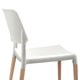 4x Wooden Dining Chair Set Beech Wood Legs Stackable Chairs Seat White - Afterpay - Zip Pay - Free Shipping - Dodosales -