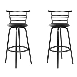 2x PU Leather Bar Stool Set Kitchen Swivel Chair Seating Home Office Cafe - Afterpay - Zip Pay - Free Shipping - Dodosales -
