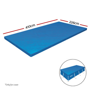 4M Steel Frame Above Ground Swimming Pool W/ Filter Pump BONUS Cover