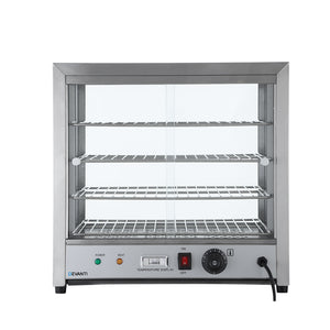 Commercial Food Warmer Pie Hot Display Countertop Showcase Cabinet Stainless Steel