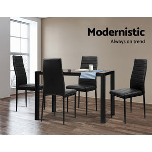 5 Piece Dining Table 4 Chairs Set Modern Seating Living Room - Afterpay - Zip Pay - Free Shipping - Dodosales -