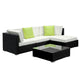 5 Pc Modular Outdoor Setting Sofa Lounge Set Patio Furniture Wicker Black Storage Cover - Afterpay - Zip Pay - Free Shipping - Dodosales -