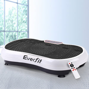 Vibration Machine Plate Platform Body Shaper Home Gym Fitness White - Afterpay - Zip Pay - Free Shipping - Dodosales -