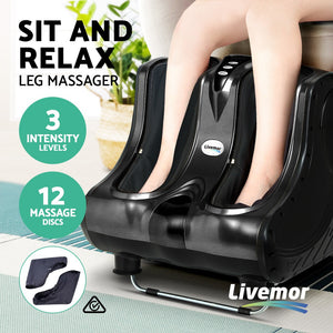 Calf Foot Massager Portable Massaging Machine Relax Feet Black - Afterpay - Zip Pay - Free Shipping - Dodosales -