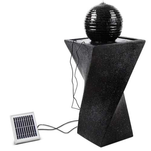 NEW Solar Powered Water Fountain Twist Design with Lights Garden Ornament - Afterpay - Zip Pay - Free Shipping - Dodosales -