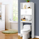 Bathroom Storage Cabinet Over The Toilet Unit Shelf Storage White