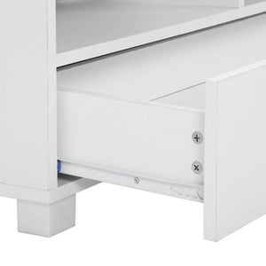 TV Stand Entertainment Unit with Drawers Shelves Cupboard Cabinet - White - Afterpay - Zip Pay - Free Shipping - Dodosales -