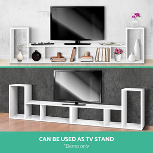 Display Shelf Do It Yourself Combination L Shape Unit Shelving Stand White
