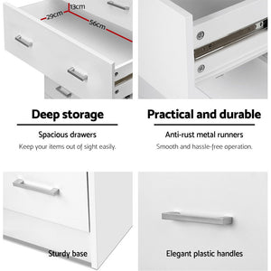 Chest Of drawer 4 Drawers Tallboy Storage Bedroom Furniture White - Afterpay - Zip Pay - Free Shipping - Dodosales -