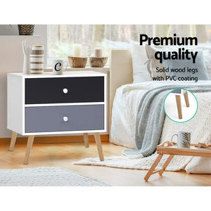 Bedside Table Scandinavian Style Nightstand Side Lamp Cabinet Modern - Afterpay - Zip Pay - Free Shipping - Dodosales -