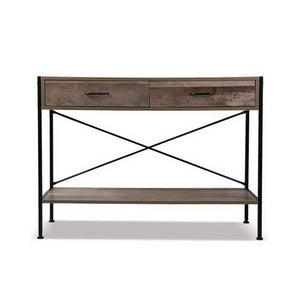 Wooden Hallway Console Table Dresser Industrial Rustic Look Side Table - Afterpay - Zip Pay - Free Shipping - Dodosales -