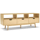 Wooden Scandinavian Look Entertainent Unit TV Stand Cabinet Storage Shelves