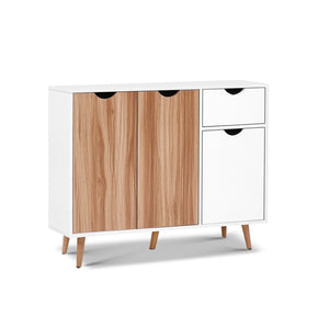 Buffet Sideboard Cabinet Storage Shelf Cupboard Hallway Table Scandi Look