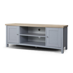TV Cabinet Stand Entertainment Unit French Provincial Storage Shelf Grey Oak Tone