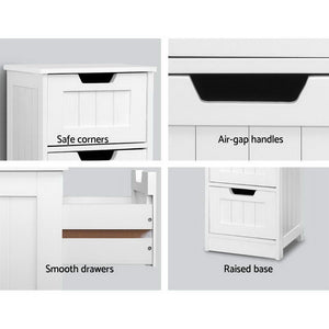 Chest of 4 Drawers Bedside Tables Drawers Cabinet Storage Stand Bathroom - Afterpay - Zip Pay - Free Shipping - Dodosales -