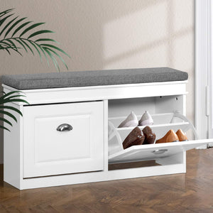 Shoe Cabinet Bench Shoes Storage Rack Organiser Drawer Shelf White