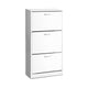 White Shoe Cabinet Unit 3 Tier Storage Fits Up to 36 Pairs Of Shoes - Afterpay - Zip Pay - Free Shipping - Dodosales -