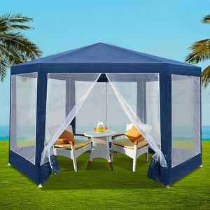Gazebo Party Wedding Event Market Marquee Tent Shade Canopy Navy Blue