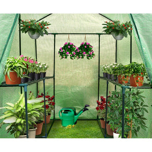 Walk In Greenhouse Hot Shade  House Planting Room Seedling Storage Green 1.9X1.2M