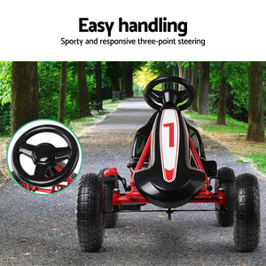 Kids Pedal Go Kart Car Ride On Toys Racing Bike Red Gokart - Afterpay - Zip Pay - Free Shipping - Dodosales -