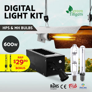 600W HPS MH Grow Light Kit Magnetic Ballast Reflector Hydroponic Grow System - Afterpay - Zip Pay - Free Shipping - Dodosales -