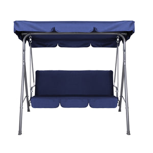 Garden Swing Chair Loveseat Canopy Shade Outdoor Seating Swinging Sofa - Navy - Afterpay - Zip Pay - Free Shipping - Dodosales -