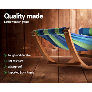 Kids Timber Hammock Chair Bed Swing Pillow Deck Chaise