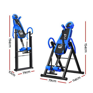 Inversion Table Gravity Stretcher Inverter Foldable Home Fitness Gym Blue - Afterpay - Zip Pay - Free Shipping - Dodosales -