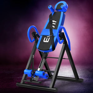 Inversion Table Gravity Stretcher Inverter Foldable Home Fitness Gym Blue
