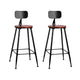 2x Vintage Bar Stools Retro Pine Wood Metal Frame High Chair - Afterpay - Zip Pay - Free Shipping - Dodosales -