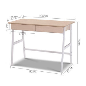 Student Study Desk Computer Table Home Office Drawers Scandi Design Console - Afterpay - Zip Pay - Free Shipping - Dodosales -