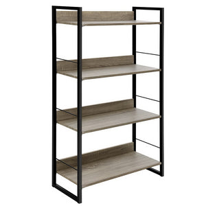Book Shelf Display Unit Shelves Wood Metal Stand Hollow Storage - Afterpay - Zip Pay - Free Shipping - Dodosales -