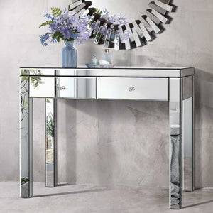 Mirrored Foyer Hallway Console Table Hall Entry Display Sideboard Dresser - Afterpay - Zip Pay - Free Shipping - Dodosales -