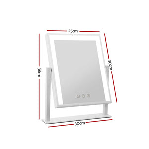 LED Standing Makeup Mirror Hollywood Mirror Tabletop Vanity White