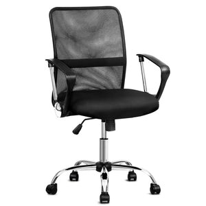Office Chair Gaming Seat Computer Mesh Chairs Executive Mid Back Black - Afterpay - Zip Pay - Free Shipping - Dodosales -