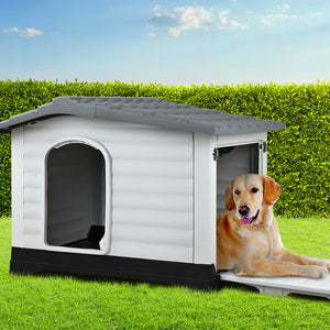 Dog Kennel Outdoor PP Pet House Puppy Large Outside home Weatherproof - Afterpay - Zip Pay - Free Shipping - Dodosales -
