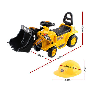 Kids Ride On Truck Bulldozer Children Toy Car Helmet Boy - Afterpay - Zip Pay - Free Shipping - Dodosales -
